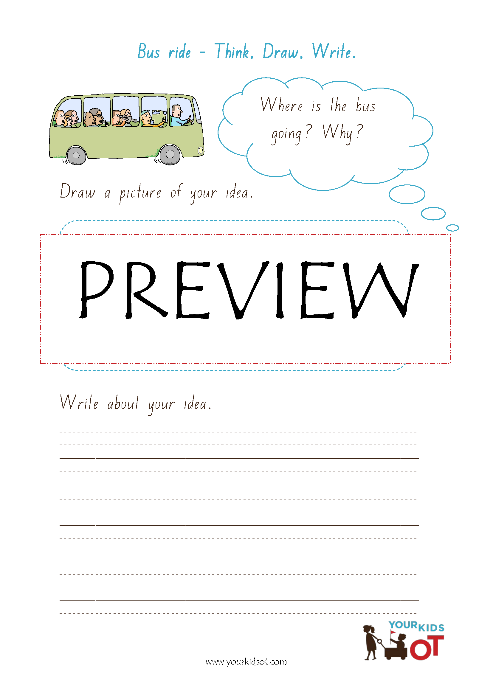worksheet Writing Prompt Worksheets think draw write sentence writing prompt worksheet bundle