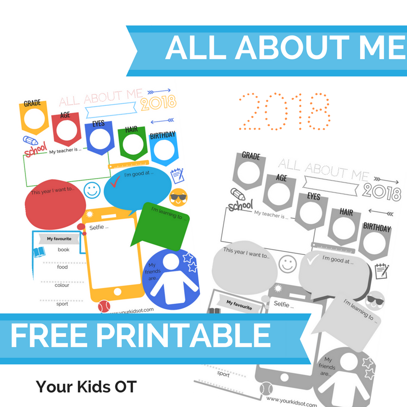 image relating to All About My Teacher Free Printable known as Your Young children OT site - Your Little ones OT