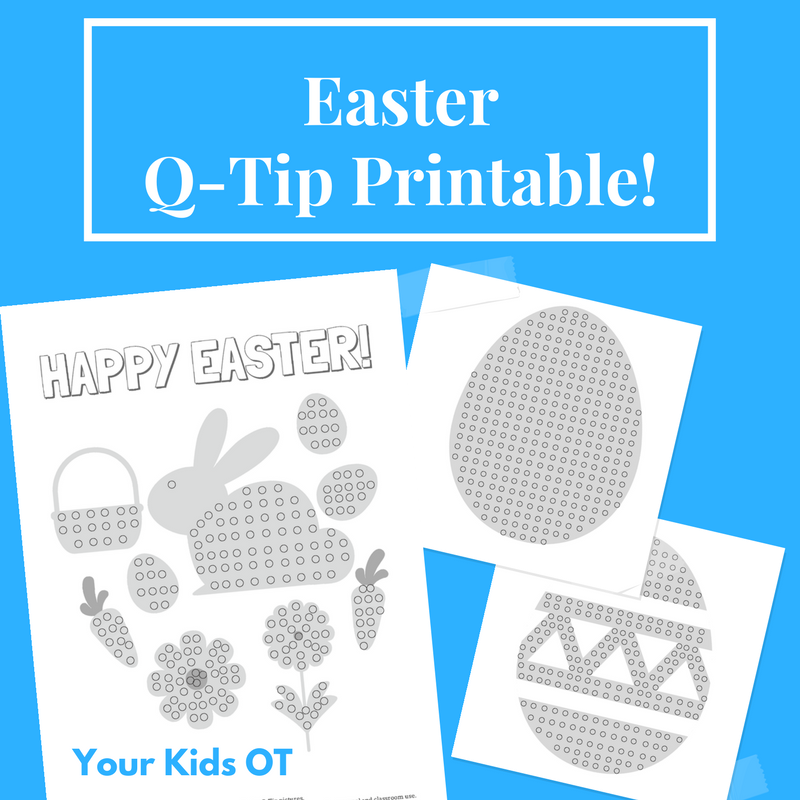 picture about Q Tip Painting Printable named Cost-free EASTER Q-Idea Images