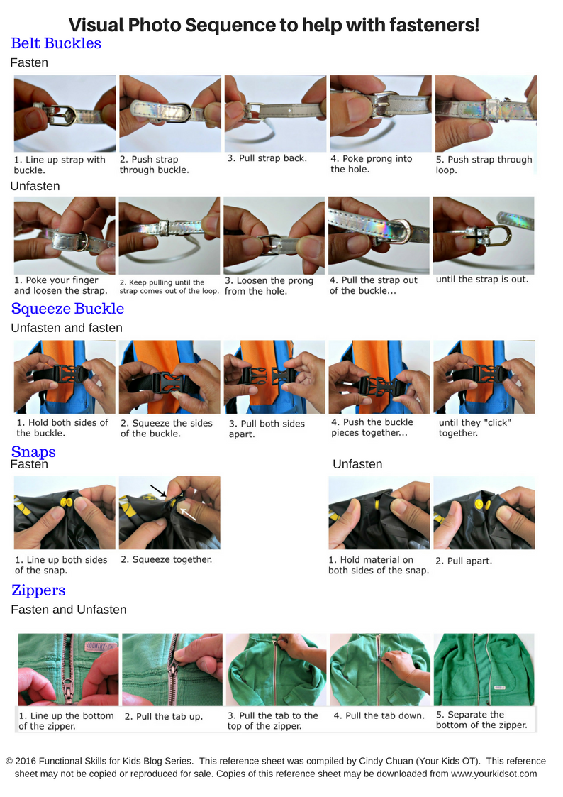 Visual Photo Sequence To Help Manage Fasteners