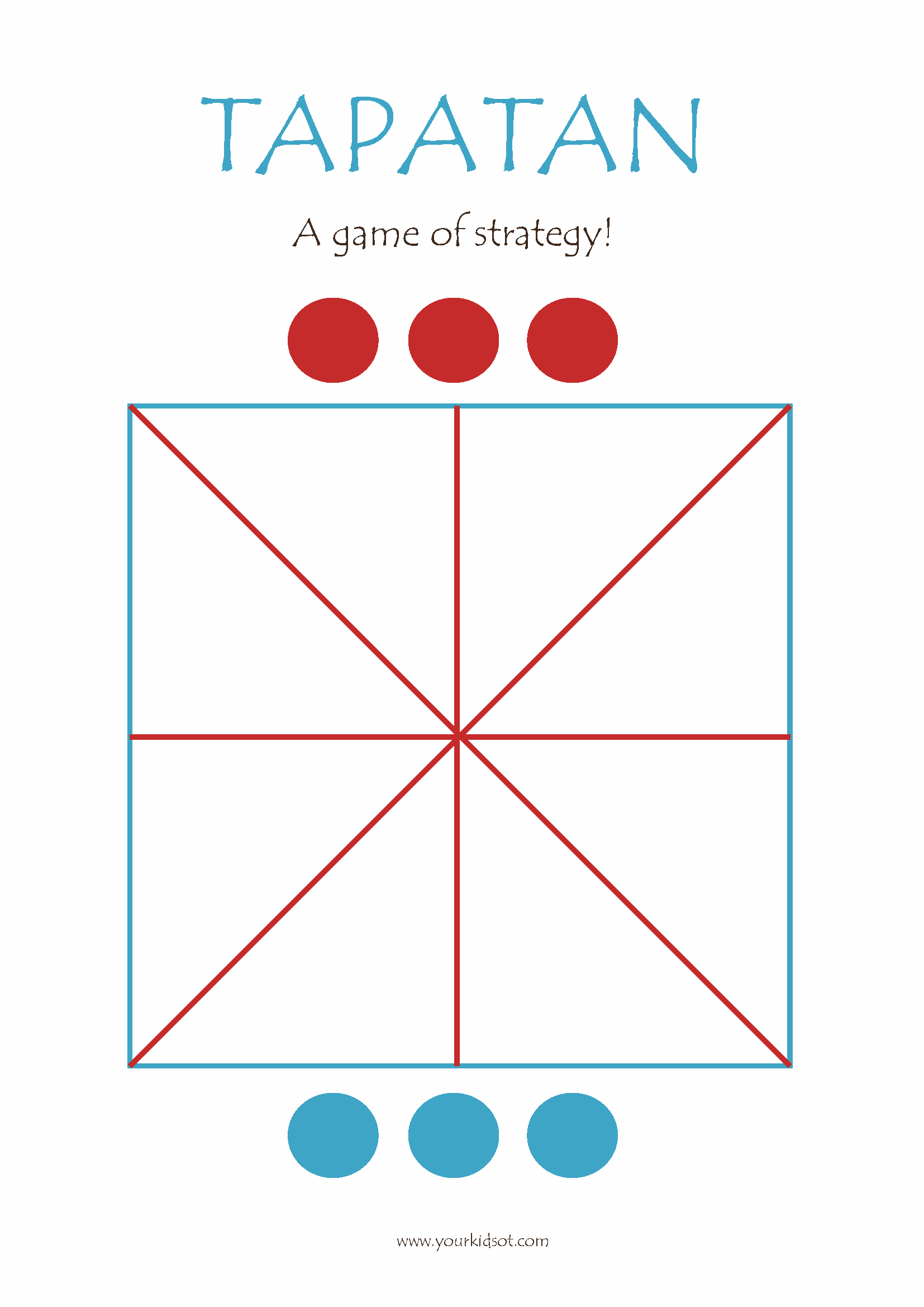 graphic relating to Free Printable Tic Tac Toe Board identify Tapatan Sport Board - Free of charge
