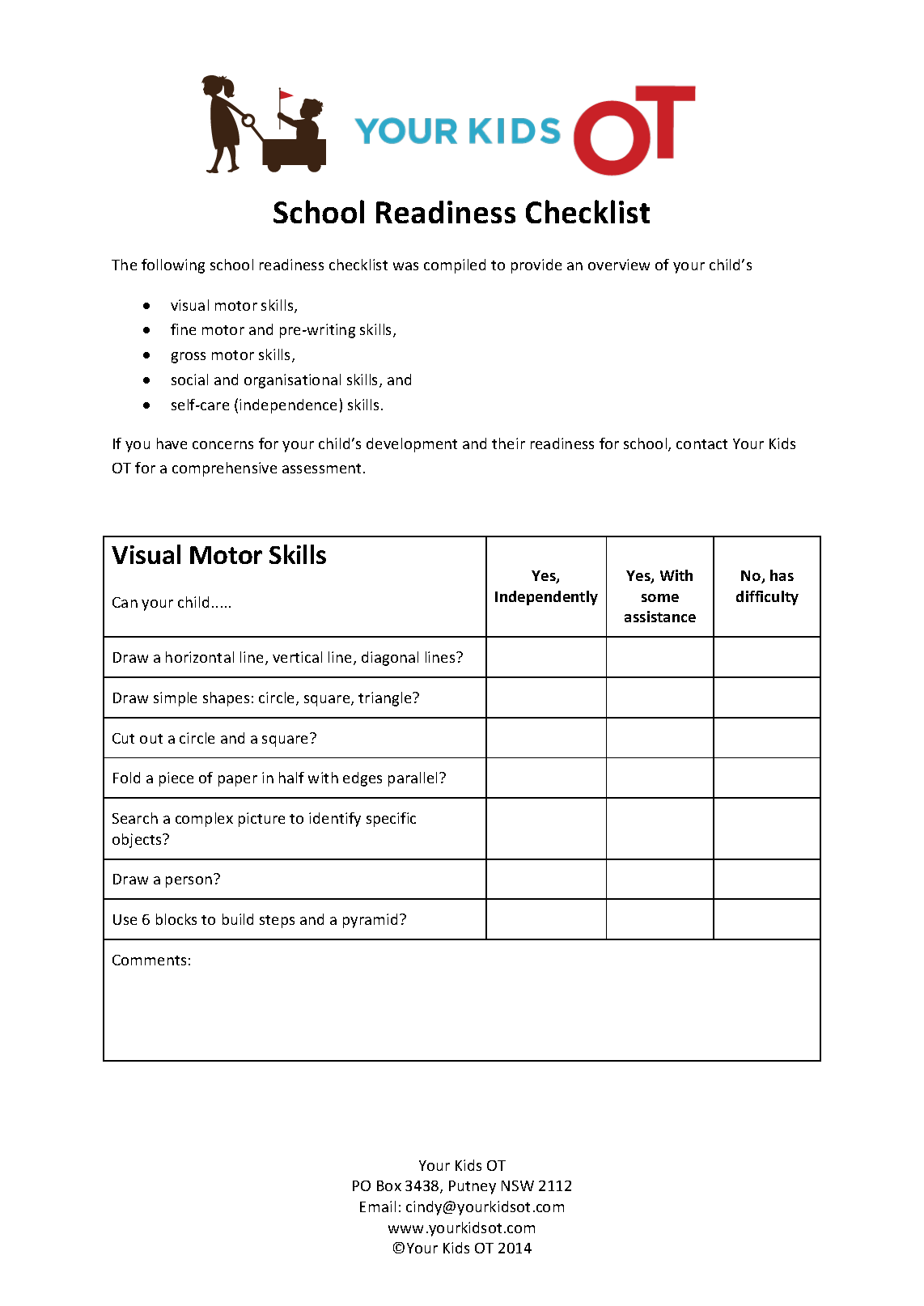 photo about Kindergarten Readiness Checklist Printable referred to as Absolutely free Faculty Readiness Listing